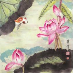 "Floral ""Admiring the Lotus"""