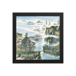 "Framed Print  ""Shangri La"""
