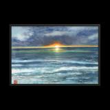 """Framed Print  """"Sunset Blessings"""""""