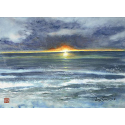 """Seascapes """"Sunset Blessing"""""""