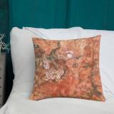 "Pillow  ""Coral Lotus (Fall)"""