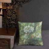 "Pillow  ""Emerald Lotus (Spring)"""