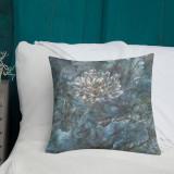 "Pillow  ""Sapphire Lotus (Winter)"""