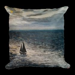 """Premium Pillow   """"Moon Light Sailing"""""""