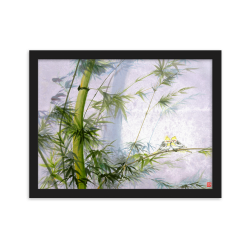 """Framed Print  """"Evergreen Love"""""""