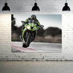 Green Motorcycle - 1 panel