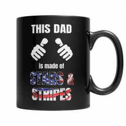 Limited Mug - This Dad Is Made Of Stars & Stripes (FATHERS DAY EXCLUSIVE)
