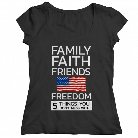Family Faith Friends Flag Freedom (LADIES CLASSIC SHIRT)