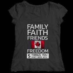 Family Faith Friends Flag Freedom - Canada (LADIES CLASSIC SHIRT)