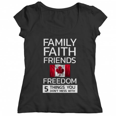 Family Faith Friends Flag Freedom - Canada (LADIES CLASSIC SHIRT)