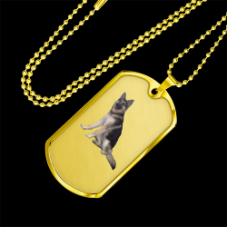 Chewbacca the Malamute-GSD-Arctic Wolf (Gold Dog Tag)