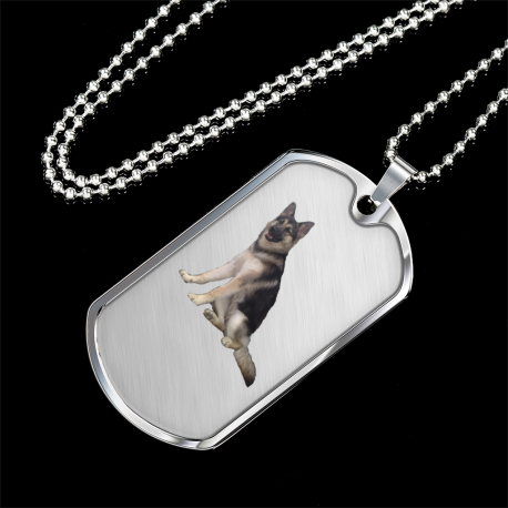 Chewbacca the Malamute-GSD-Arctic Wolf (Silver Dog Tag)
