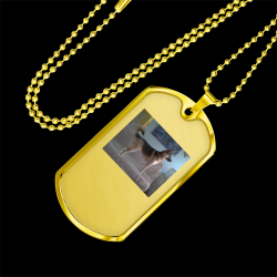 Guardian of the Couch (Gold Dog Tag)