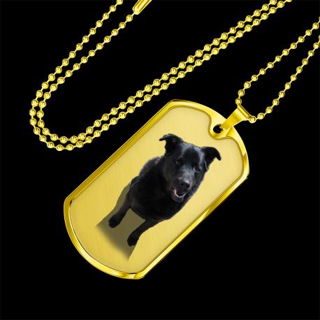 Black Lab (Gold Dog Tag)