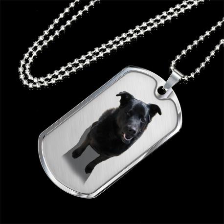 Black Lab (Silver Dog Tag)
