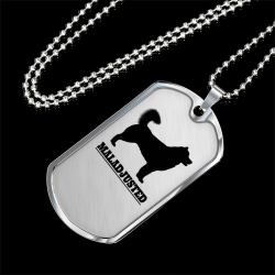 [SILVER DOG TAG] Mal-Adjusted - For Your Alaskan Malamute