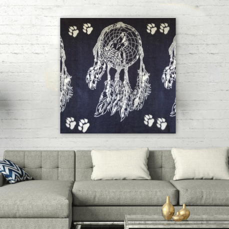 Husky Malamute Wolf Dreamcatcher Wall Art Square