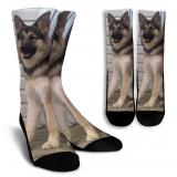 Malamute-German Shepherd-Wolf Crew Socks