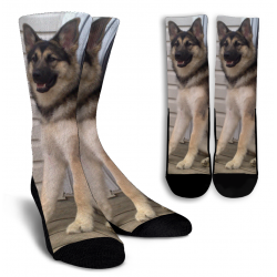 Malamute-German Shepherd-Wolf Crew Socks