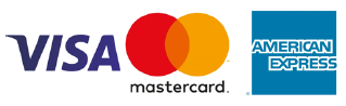 Secure Payment: Visa MasterCard American Express