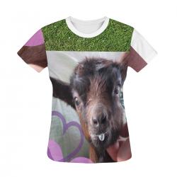 Baby Goat Women's All Over Print T-shirt