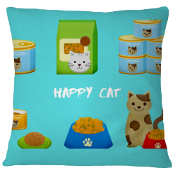 Happy Cat Pillow Case