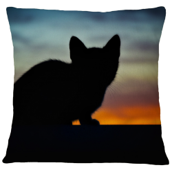 Kitty Silhouette Pillow Case