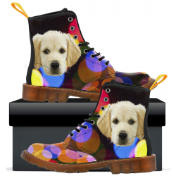 Kids Canvas Boots Colorful