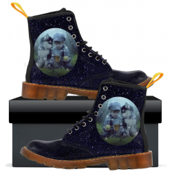 Kids Canvas Boots Starry Night