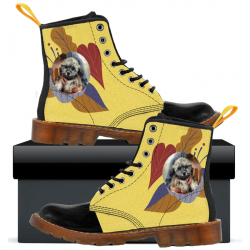 Kids Canvas Boots Yellow