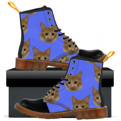 Kids Canvas Boots Kitty