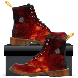 Mens Canvas Boots Fiery Paw