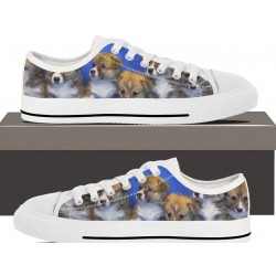 5 Cute Puppies Womens Lowtop