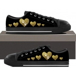 Golden Hearts Womens Lowtop