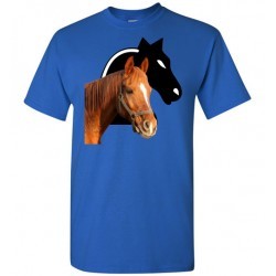 Horse Shadow Short Sleeve T-Shirt