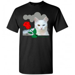 White Cat Short Sleeve T-Shirt