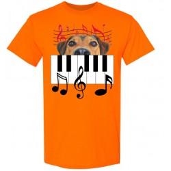 Piano Doggy Short Sleeve T-Shirt