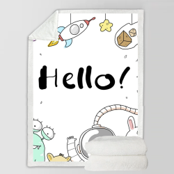 Fleece Blanket - Hello