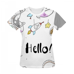 Women's All Over Print T-shirt - Hello
