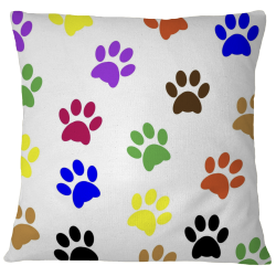 Pillow Case Cover - Paw Prints