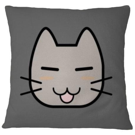 Pillow Case Cover - Grey Cat
