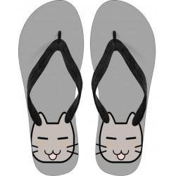 Flip Flops - Grey Kitty