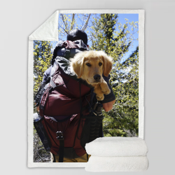Fleece Blanket - Hiking Buddy