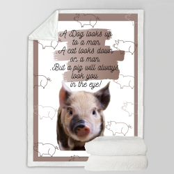 Fleece Blanket - Pig