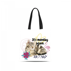Canvas Tote Bag - monday again