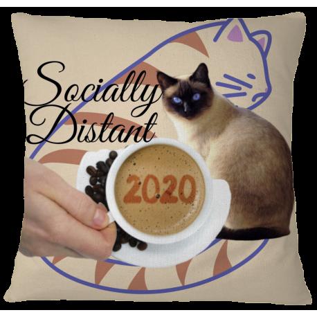 Pillow Case Cover - Socially Distant 2020