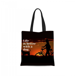 Canvas Tote Bag - Life is Better