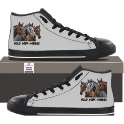 Womens Hightop - Hold Your Horses
