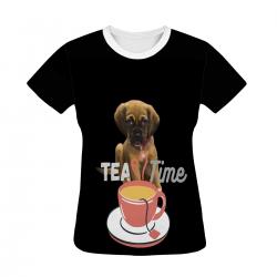 Women's All Over Print T-shirt - Tea Time
