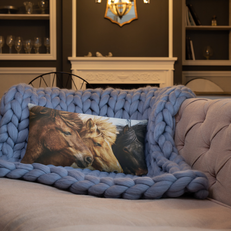Horses Basic Pillow